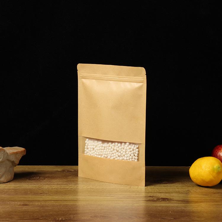 QIQI Túi đứng Giấy kraft bảo vệ môi trường túi đứng lên tùy chỉnh đồ ăn nhẹ trà thực phẩm chống ẩm t