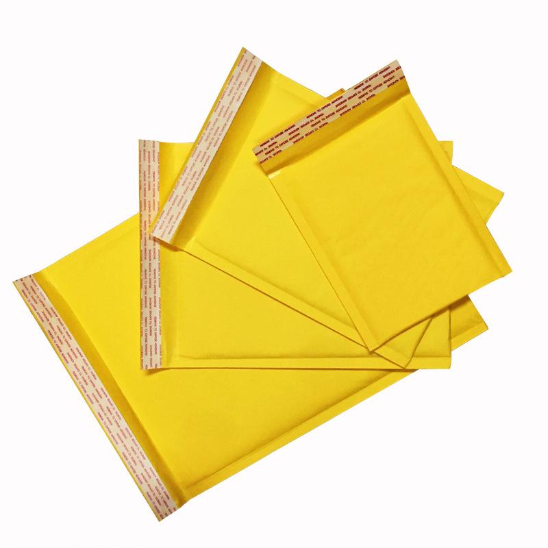DIANBANG bao thư chống sốc 22 * 20 + 4 phong bì bong bóng Túi giấy kraft dày màu vàng