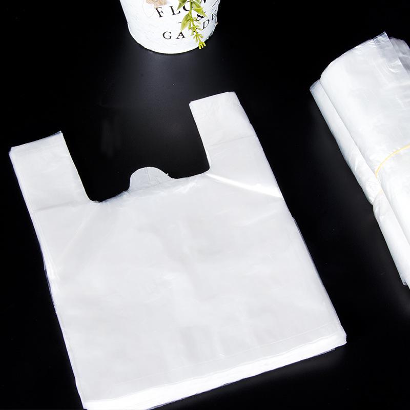 XINXINGWANG Túi xốp 2 quai Túi vest cầm tay màu trắng trong suốt thực phẩm túi nhựa bán buôn túi ves