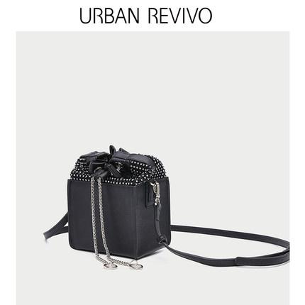 Túi xách nữ thời trang  UR URBAN REVIVO2019 phụ kiện mới của phụ nữ khâu chùm túi Messenger AV06SB4S