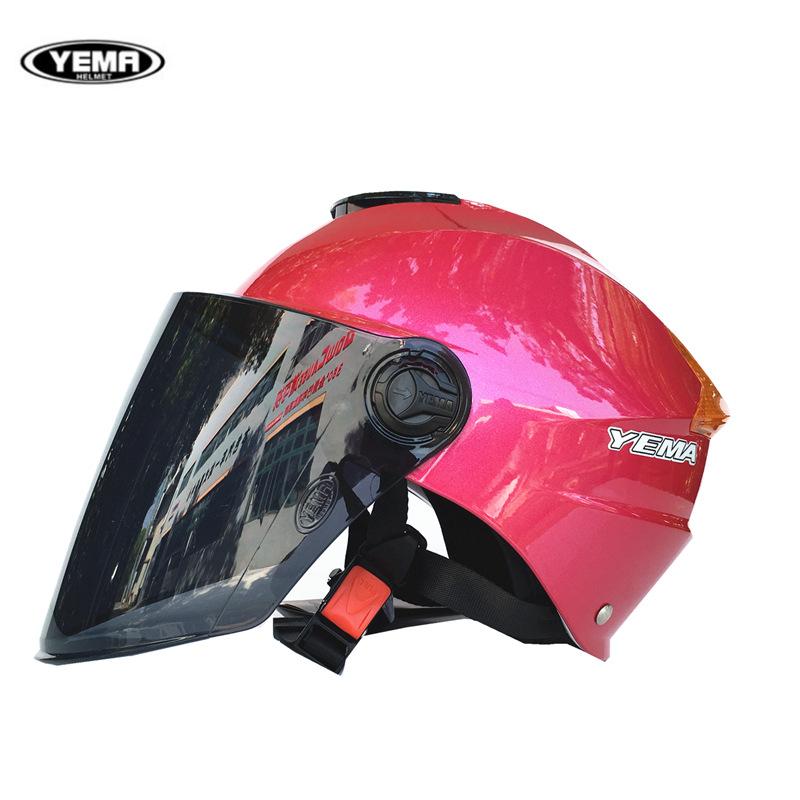 YEMA Nón bảo hộ Mustang YM335 xe máy mũ bảo hiểm xe điện mùa hè nam và nữ chống nắng UV mũ bảo hiểm