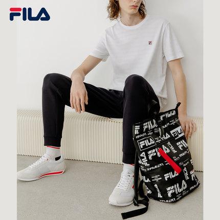 thị trường túi - Vali  FILA Ba lô chính thức của FILA Fila 2019 Thu mới Full Print Ba lô công suất l