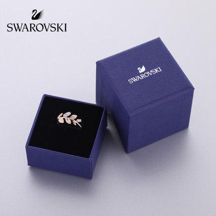 đồ trang trí trang phục Swarovski MAYFLY lá tươi thời trang nhẫn nữ thanh lịch gửi tặng bạn gái món