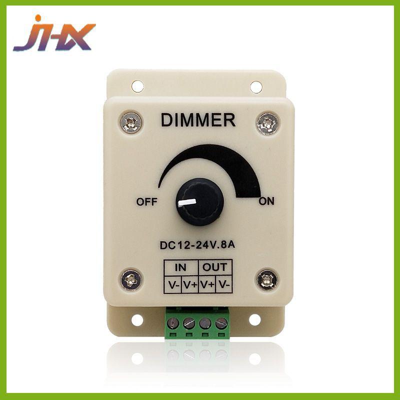JIAHAOXIN Công tắc điều chỉnh độ sáng Light Bar Dimmer LED Dải ánh sáng với Bộ điều khiển 12-24V 8A