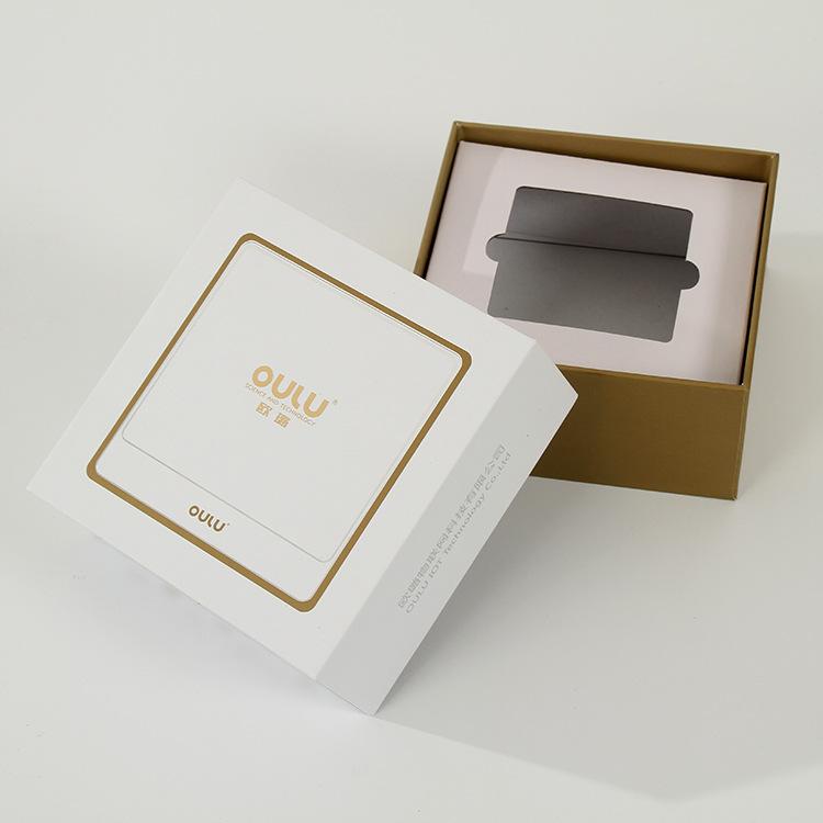 hộp giấy âm dương U bao bì hộp tùy chỉnh bronzing thế giới bìa carton tùy chỉnh thẻ trắng chuyển đổi
