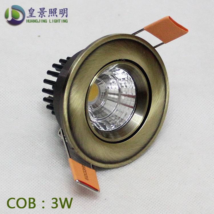 HUANGJING Đèn âm trần bộ Bộ đèn trần nhà trần 3W 5W Bộ đèn trần LED