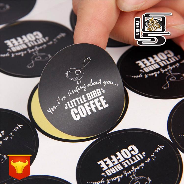 YUEXIN Tem dán in mã vạch Nhà sản xuất tùy chỉnh dán bạc câm in giấy kraft nhãn dán trong suốt dán P