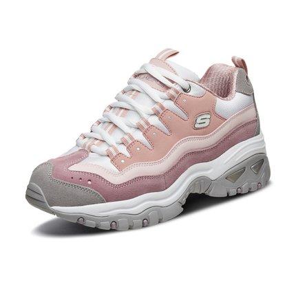 Giày nữ trào lưu Hot  Skechers SKECHER giày nữ mới đế dày tăng giày gấu trúc retro giày cũ giày thườ