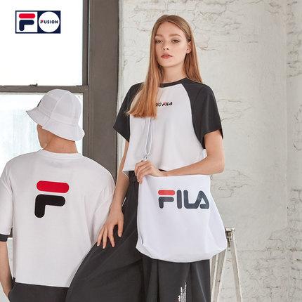 thị trường túi - Vali  FILA Túi đeo chéo FILA FUSION túi xách 2019 mùa thu mới túi xách thời trang m