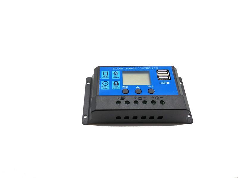 Bộ điều khiển năng lượng mặt trời 12V / 24V10A Bộ sạc pin