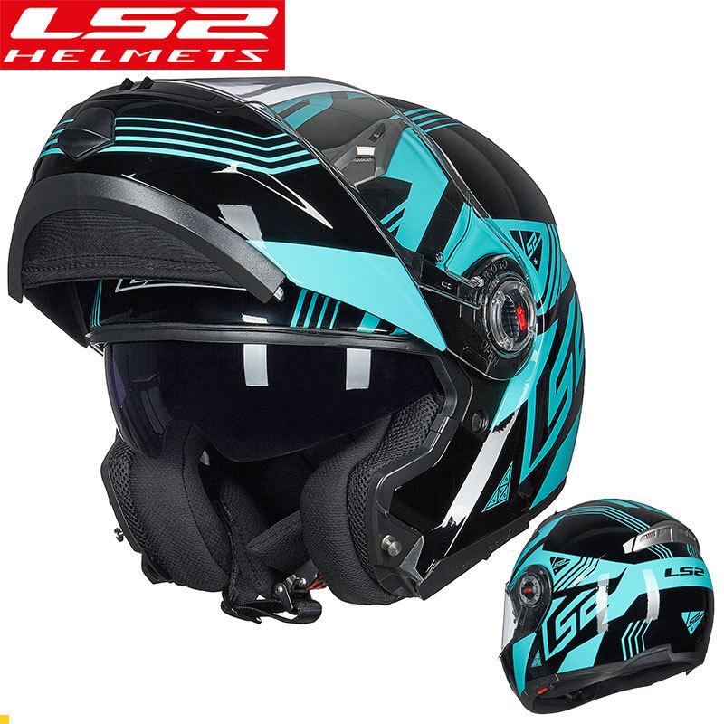 GXT Nón bảo hộ Mũ bảo hiểm xe máy LS2 chính hãng đôi ống kính mở mũ bảo hiểm bốn mùa mũ bảo hiểm đa