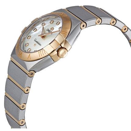 Đồng hồ thông minh  OMEGA Đồng hồ Thụy Sĩ Omega OMEGA vàng đồng hồ nữ chòm sao thạch anh 123.20.27.6