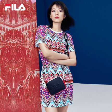 thị trường túi - Vali  FILA Túi đeo chéo nữ cao cấp chính thức của Fila Fila 2019 Mùa hè mới Túi đeo