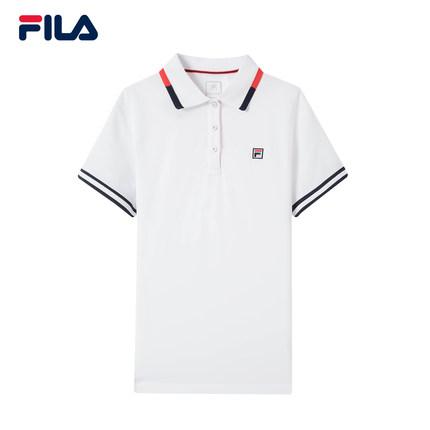 Áo thun FILA Fila Official Áo sơ mi nữ tay ngắn 2019 mùa thu mới Thể thao giản dị đan áo sơ mi ngắn