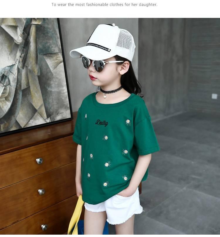 Áo thun gia đình Mùa hè trang phục cho trẻ em Trung Hoa mắc trang phục mùa hè với những cái Holes tr