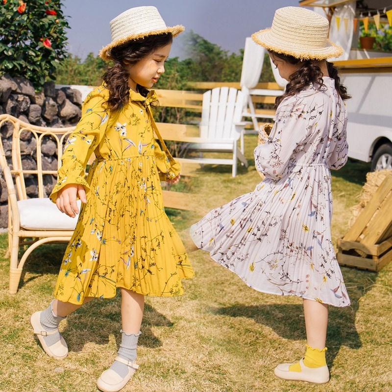 Đầm váy trẻ em Quần áo Hàn Xẻng Trang phục mùa xuân