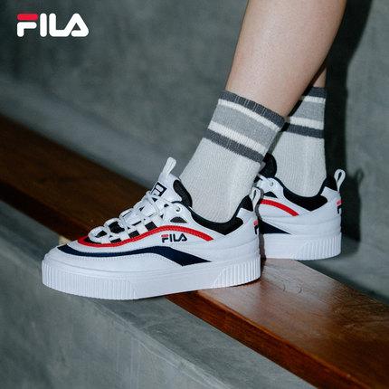 Giày lười / giày mọi đế cao FILA Giày cao cổ nữ chính hãng của FILA Fila 2019 Mùa hè Xu hướng đường