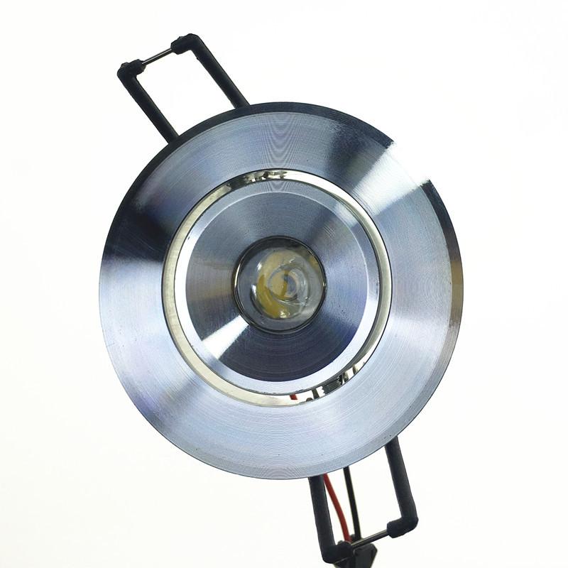 HUIRUI Đèn âm trần bộ Nhỏ công suất cao LED trần nhà 1W Nhôm ánh sáng cao cát bạc mở 55 đơn 1-3W bộ