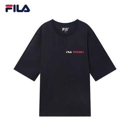Áo thun FILA Áo thun ngắn tay của phụ nữ Fila Fila chính thức 2019 Mùa hè Mới Loose Logo Áo sơ mi ta