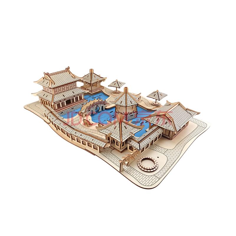 Tranh xếp hình 3D Tranh xếp hình 3D Bộ xây dựng khó khăn của tòa nhà, mô phỏng mô hình căn nhà giống