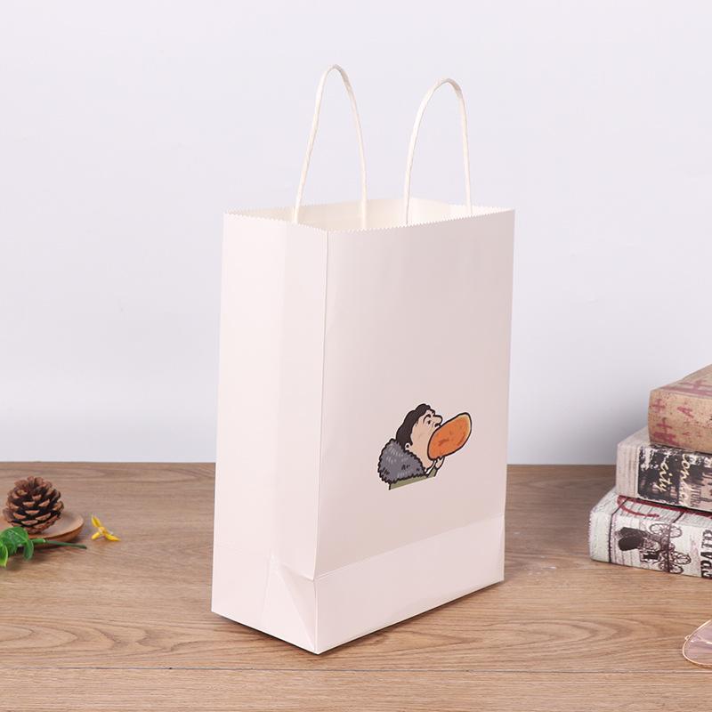 BAOXIN Túi giấy đựng quà Túi giấy thủ công tùy chỉnh In logo Túi quà tặng Trà sữa Túi đóng gói Túi m