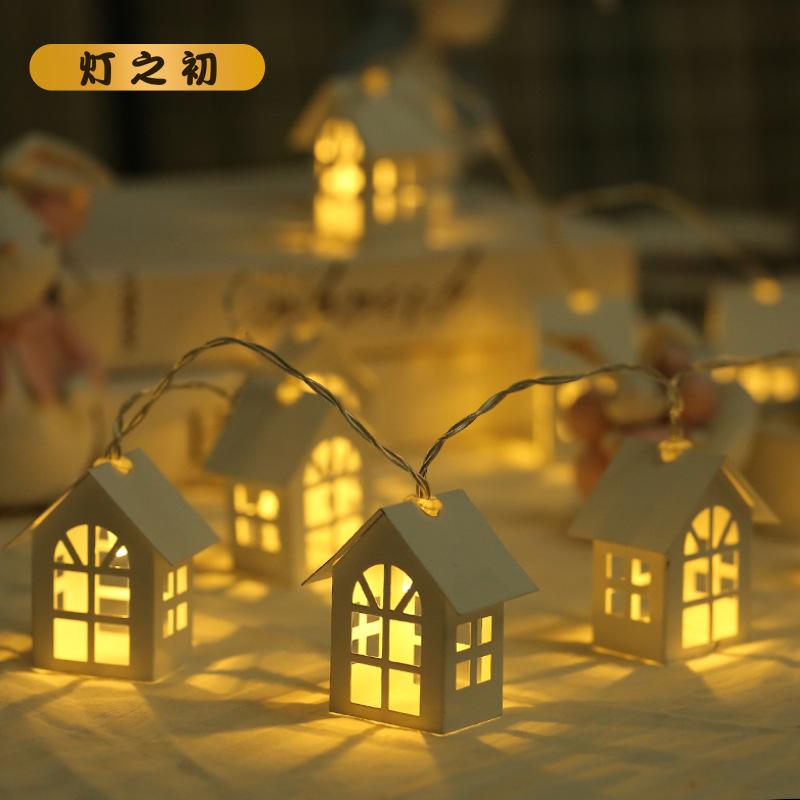 DENGZHICHU Đèn trang trì Bán buôn mới 10LED nhà nhỏ dây ánh sáng Bắc Âu Giáng sinh trang trí ánh sán