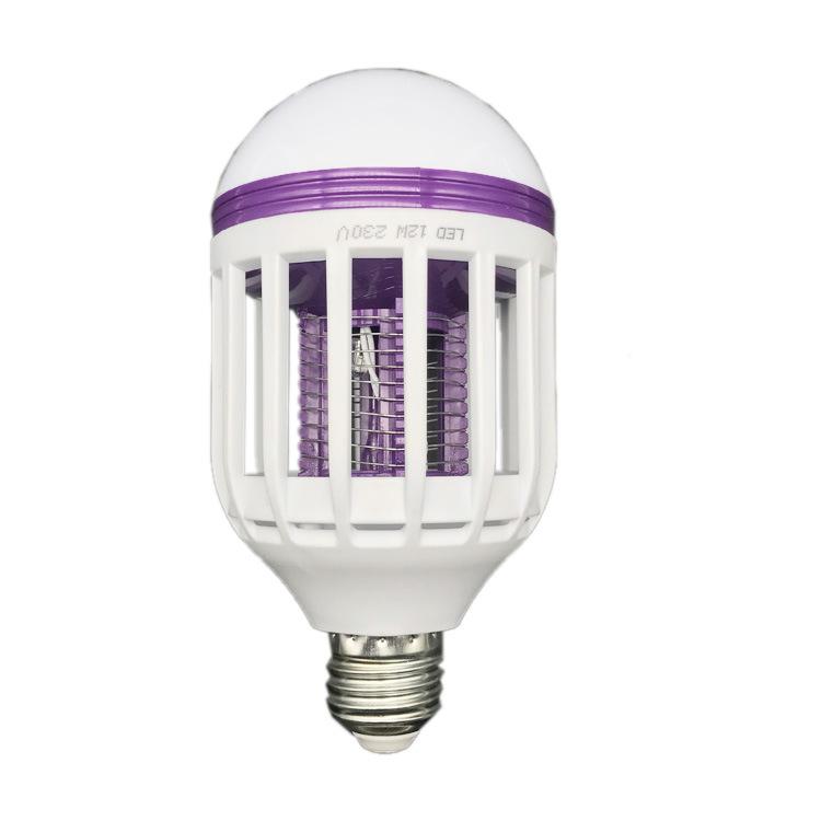 ANLAITE Bóng đèn LED LED diệt muỗi hộ gia đình sốc điện màu tím ánh sáng vật lý diệt muỗi 12W bóng đ