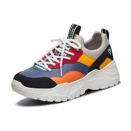 Giày nữ trào lưu Hot  Skechers SKECHER đế mới đế dày retro giày cũ thời trang giày thể thao ngoài tr