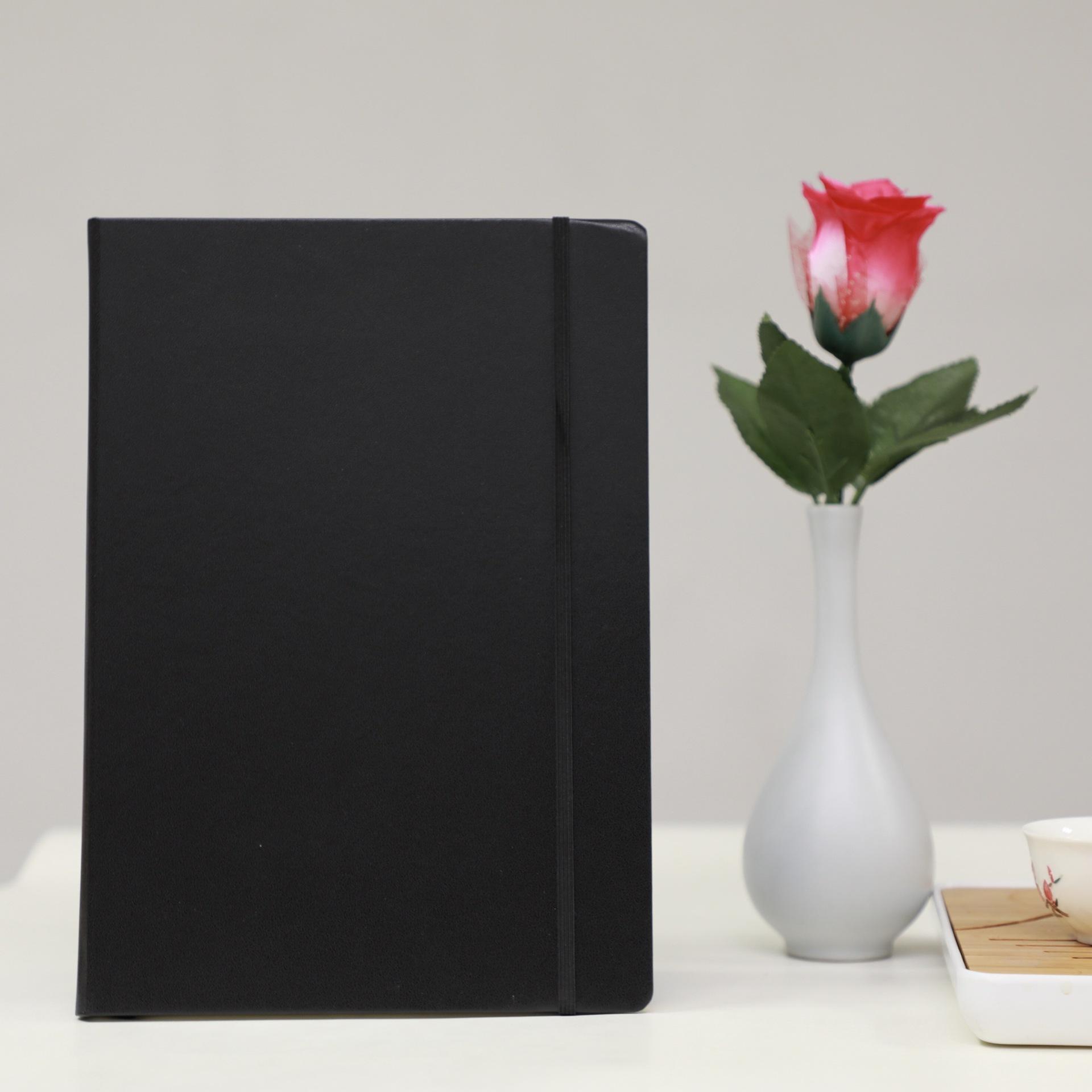 Venboo Sổ tay Nhà máy Quảng Châu tùy chỉnh B5 cao cấp mặt cứng dây đeo bìa cứng máy tính xách tay má