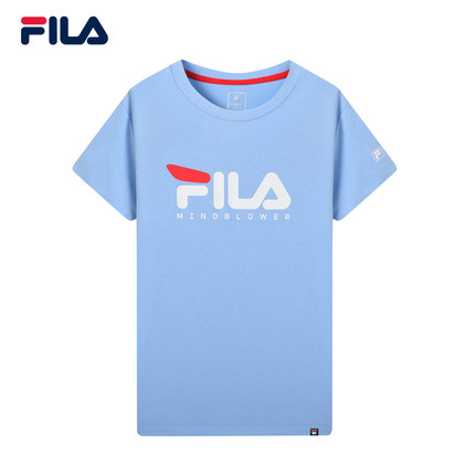 Áo thun FILA Áo thun ngắn tay nữ chính hãng của Fila Fila 2019 Mùa hè mới Thời trang đan áo sơ mi ng