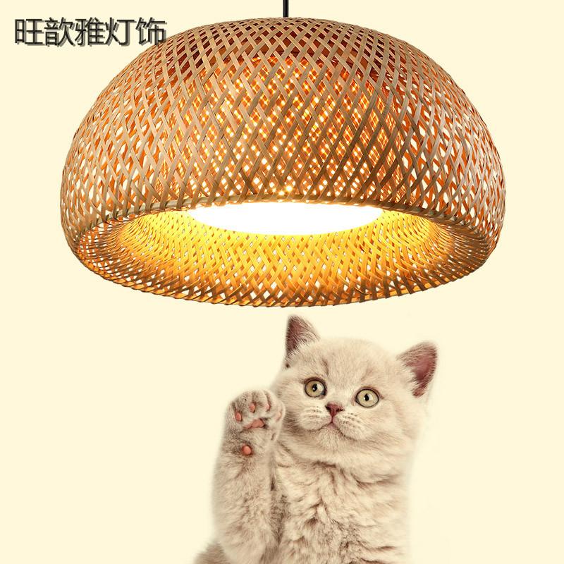 WANGXINYA Máng chụp đèn Handmade đèn chùm tre chụp đèn nhà hàng phong cách Trung Quốc nhà hàng khách