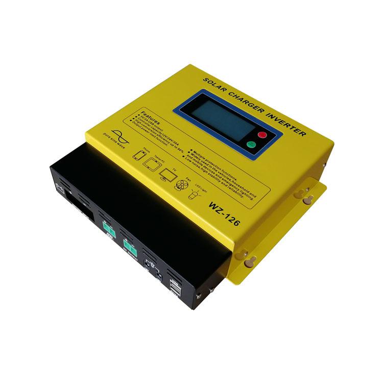 Điều khiển năng lượng mặt trời biến tần tích hợp máy sin sóng 600W12V24V30A đầu ra lắp ráp 110v20V D