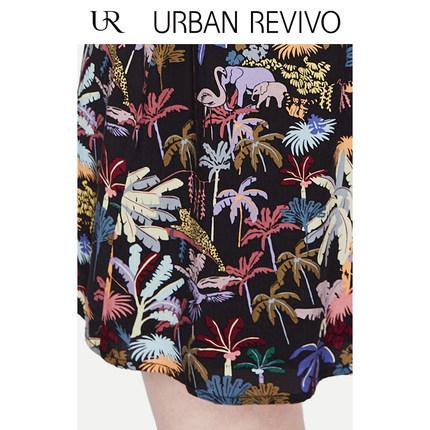 Đầm UR2019 hè mới dành cho nữ giới đơn giản in họa tiết cổ chữ V YL13R7EN2000