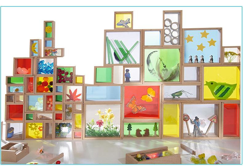 Đồ chơi khăm Giáo dục quốc gia trồng hoa nhiều màu Bảy màu Đồ chơi tình báo cho trẻ em HABA kết hợp