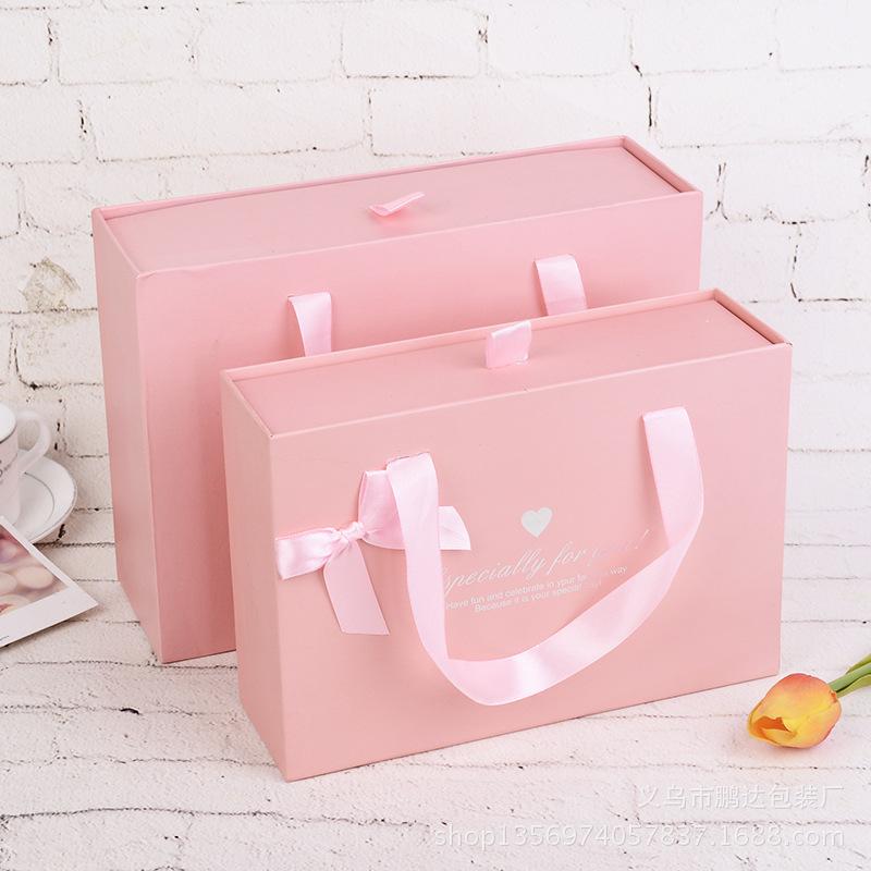 PENGDA Hộp giấy Nhà máy trực tiếp bao bì chung ngăn kéo tote túi kẹo hộp kẹo kẹo màu hồng hộp quà tặ