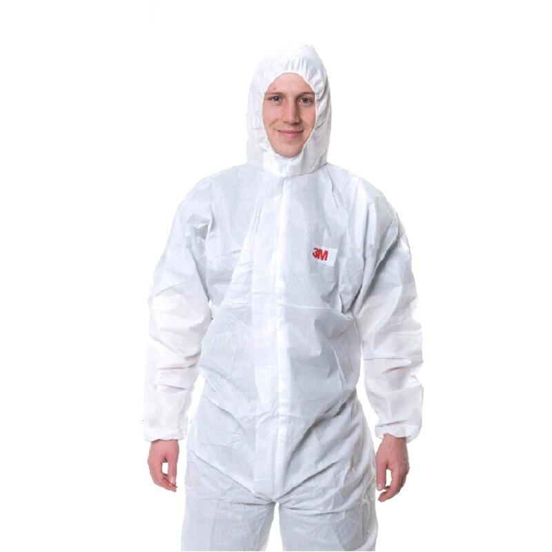 3M Trang phục bảo hộ Quần áo bảo hộ 3M4515, mũ một mảnh, sơn phun, màu trắng, thoáng khí, bảo vệ, vệ