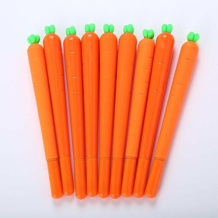Bút nước Sáng tạo phim hoạt hình mô phỏng cà rốt gel bút dễ thương học văn phòng phẩm nước bút kim v