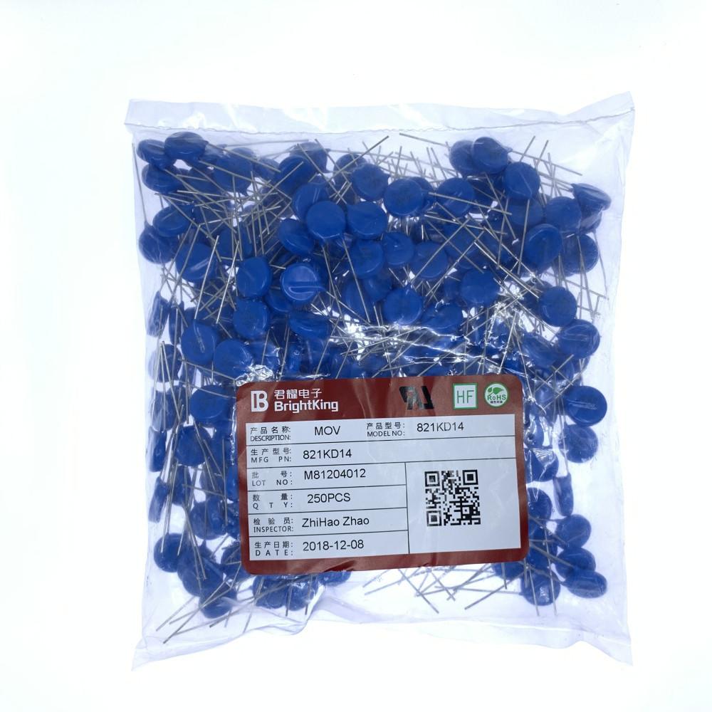 YQYP Điện trở Varistor 821KD14 Đường kính 14MM 820V = 14D821K Đài Loan Junyao IB