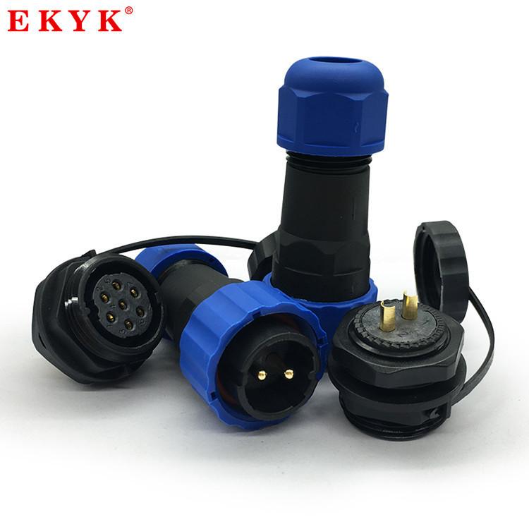 EKYK Giắc cắm Ổ cắm và ổ cắm hàng không chống nước IP68 1234567 lõi kết nối nam và nữ SD13 đầu nối c