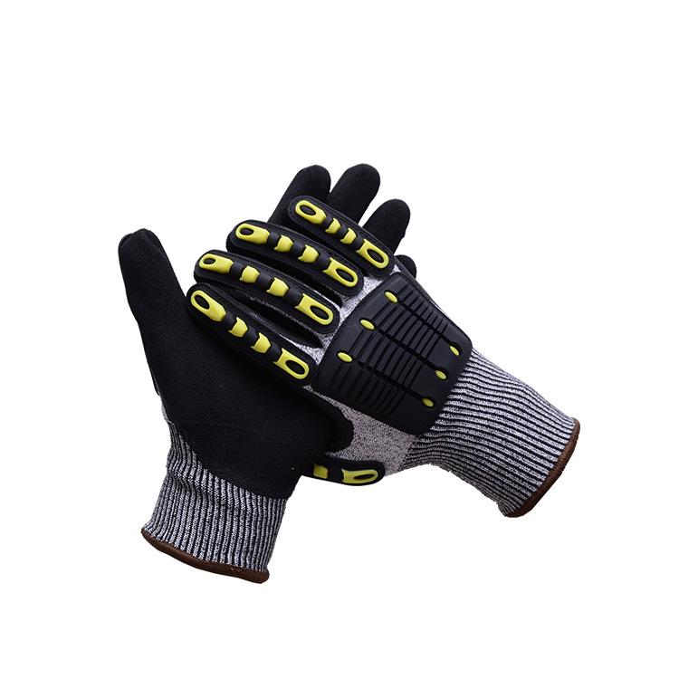 LL Găng tay bảo hộ Nhà máy trực tiếp TPR chống cắt chống va chạm chống va đập chống đâm mòn cơ khí v
