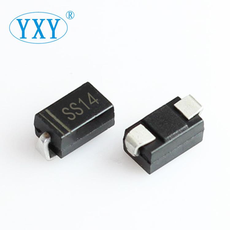 YIPINYUAN Điốt bán dẫn Nhà máy SS14 SMA Gói trực tiếp 1N5819 DO-214AC Chip Schottky Diode