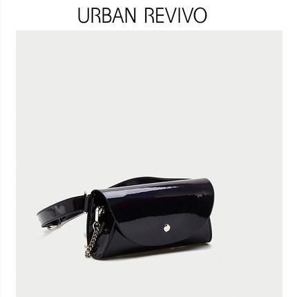 Túi xách nữ thời trang  UR URBAN REVIVO2019 phụ nữ trẻ trung mới phụ kiện kết cấu màu rắn túi AV06RB