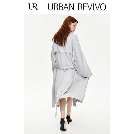 Áo khoác lửng UR2019 mùa hè thanh niên mới của phụ nữ giản dị buộc dây thắt lưng thắt lưng áo gió YU