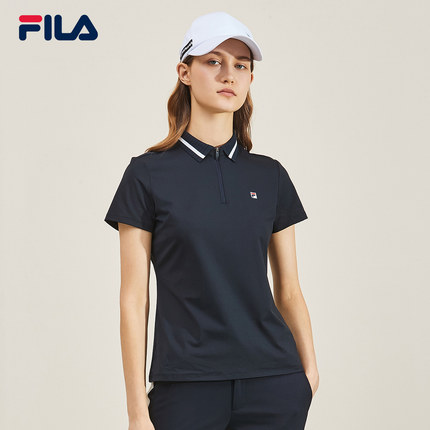 Áo thun FILA Fila Official Áo sơ mi nữ tay ngắn 2019 Thu mới Áo sơ mi golf Polo nữ