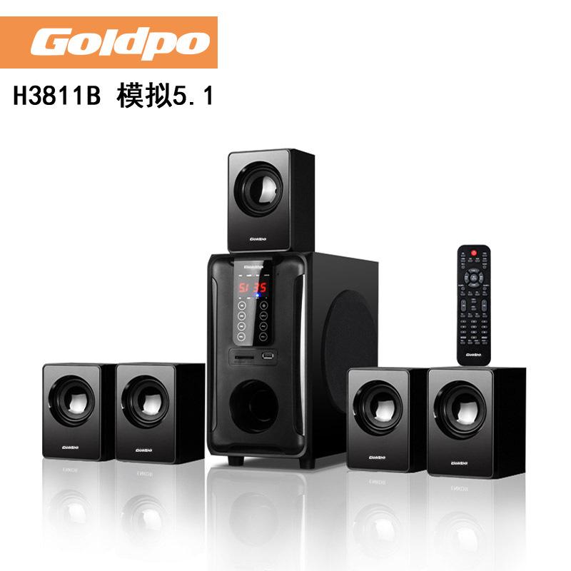 Bộ Loa Bluetooth 5.1 / H3811B Loa siêu trầm bằng gỗ Âm thanh Full