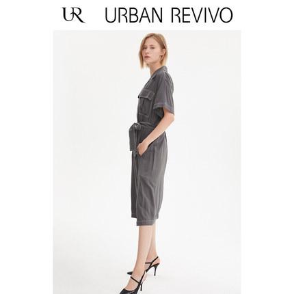 Đầm UR2019 mùa thu mới của phụ nữ quyến rũ dòng xe thắt lưng đầm WE30S7BE2004