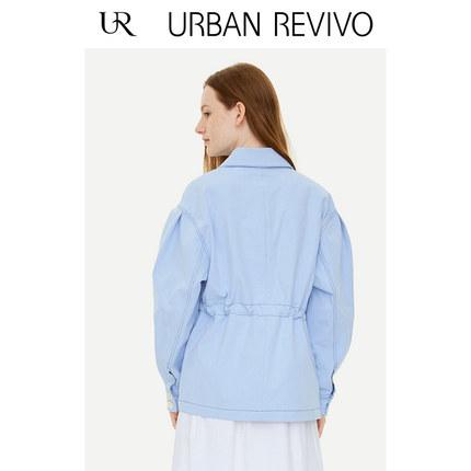 Áo khoác lửng UR2019 mùa thu mới cho giới trẻ đơn giản nút màu đơn giản ve áo dài YU31S1LS2001