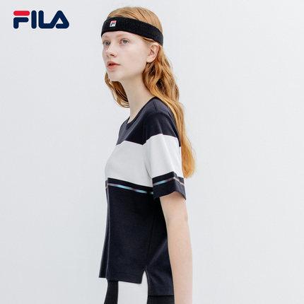 Áo thun FILA Áo thun ngắn tay của phụ nữ Fila Fila chính thức 2019 mùa hè Mới áo thun dệt kim tương
