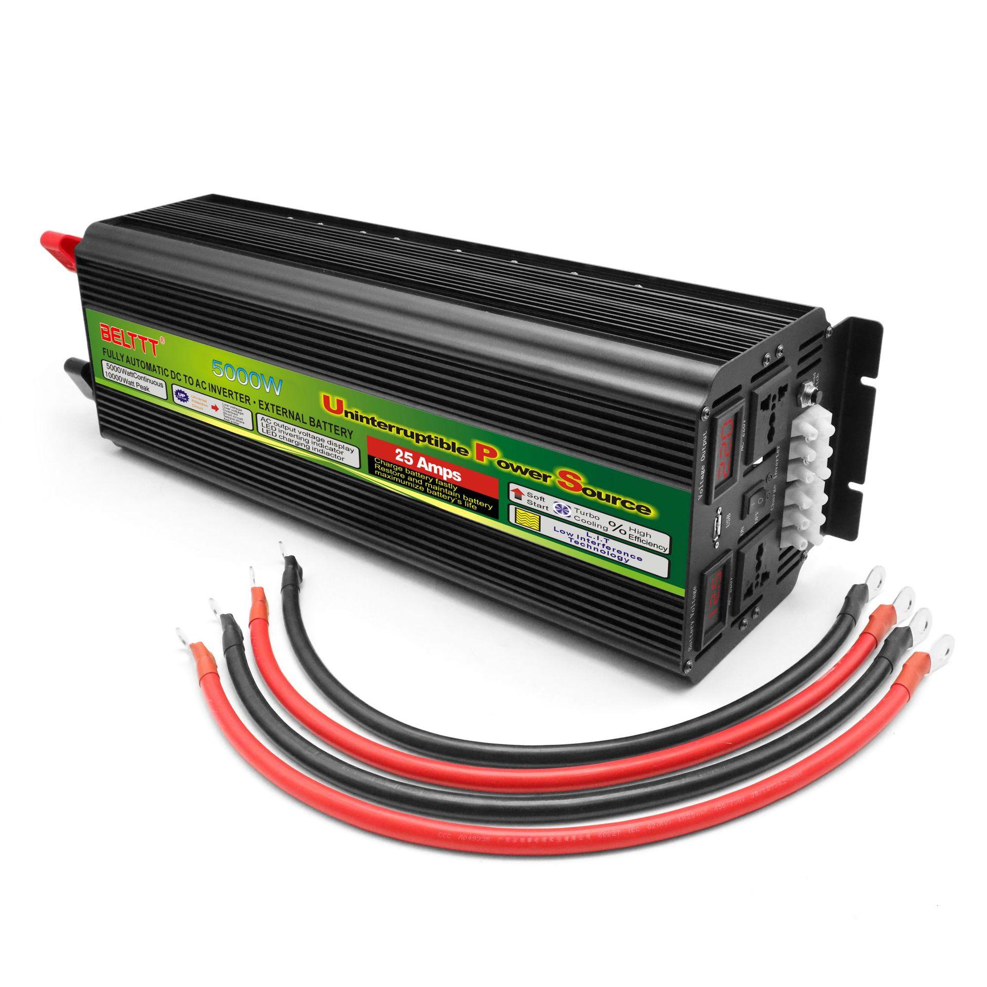 12V5000W có sạc biến tần Bộ sạc biến tần UPS Bộ biến tần cung cấp điện biến tần hai chiều