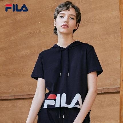 Áo thun FILA Áo thun ngắn tay nữ chính hãng của Fila Fila 2019 Mùa hè mới đan